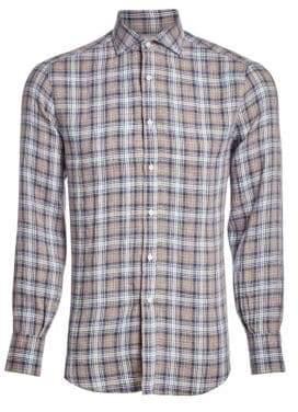 Brunello Cucinelli Plaid Sport Shirt