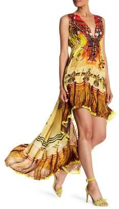 Shahida Parides Embellished Hi-lo Maxi Dress