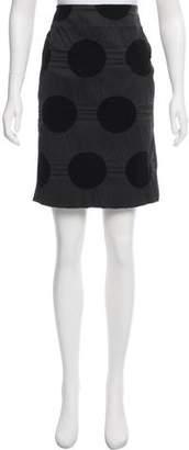 Issey Miyake Textured Polka Dot Skirt