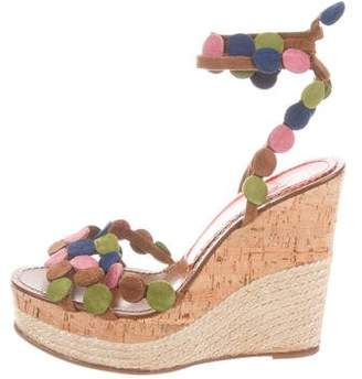 Paloma Barceló Palomitas by Suede Wrap-Around Wedges