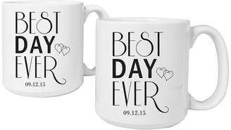 Cathy's Concepts CATHYS CONCEPTS Best Day Ever Set of 2 Personalized Large Coffee Mugs
