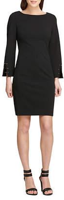 DKNY Bell-Sleeve Sheath Dress