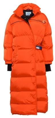 Prada Feather Nylon Puffer Coat