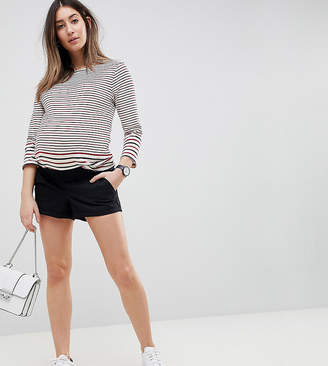 Asos DESIGN Maternity Chino Shorts In Black With Under The Bump Waistband