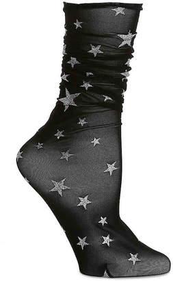 Steve Madden Metallic Star Ankle Socks - Women's