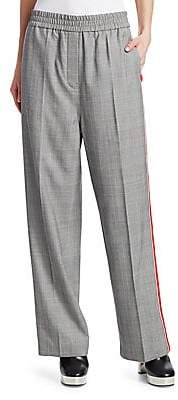 Calvin Klein Women's Wide-Leg Wool Check Pants