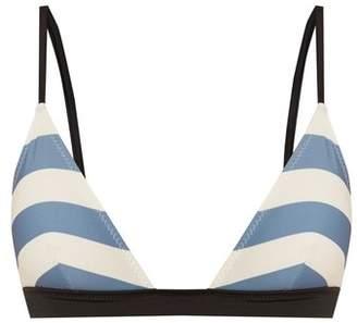 Solid & Striped The Morgan Striped Bikini Top - Womens - Blue Multi