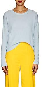 Lisa Perry Women's Embroidered Cashmere Sweater - Lt. Blue