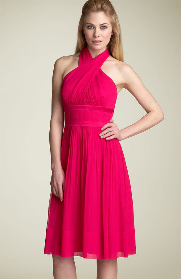Maggy London Silk Halter Dress
