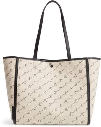 Stella McCartney East/West Logo Canvas Tote