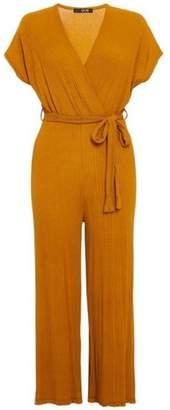 Dorothy Perkins Womens *Quiz Mustard Tie Culottes Jumpsuit