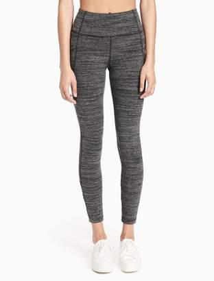 Calvin Klein heathered high waist lattice leggings