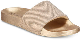 INC International Concepts I.N.C. Metallic Slide Slippers, Created for Macy's