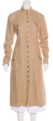 Celine Linen Long Coat