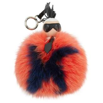 Fendi Pompon Karl Orange Fox Bag charms