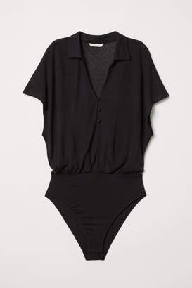 H&M Bodysuit with Buttons - Black