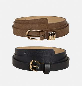 Avenue Black Taupe Belt Set