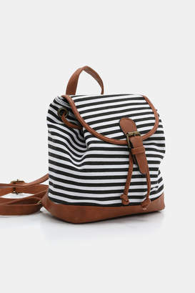 Ardene Small Striped Canvas Backpack