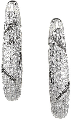 Diamond Select Cuts 18K 4.25 Ct. Tw. Diamond Hoop Earrings