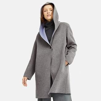 Uniqlo Women's Double Face Hooded Coat