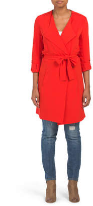 Crepe Belted Trench