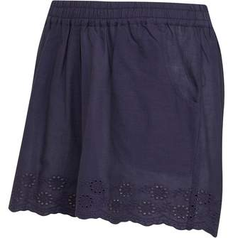 a098b9f9e8f Board Angels Girls Cotton Shorts With Broderie Anglaise Hem Trim Navy