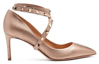 Valentino Studwrap Leather Pumps - Womens - Gold