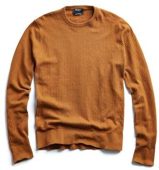 Todd Snyder Cotton Crew Neck in Mustard