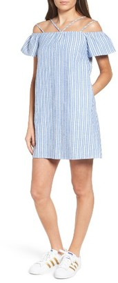 Women's Lush Stripe Off The Shoulder Dress $49 thestylecure.com