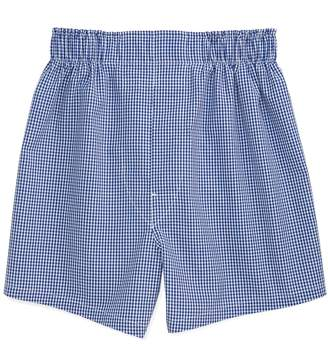 Brooks Brothers Boys Blue Gingham Full Cut Boxers