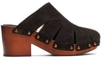 Chloé Quinty Suede Clogs - Womens - Black