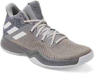 adidas Grey & White Mad Bounce Basketball Sneakers