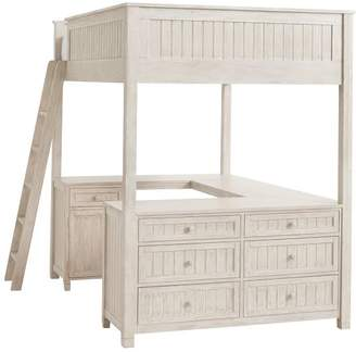Pottery Barn Teen Beadboard Loft Bed 2.0 Re-Engineer, Full, Water-Based Weathered White