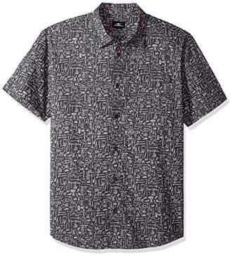O'Neill Men's Standard Fit Short Sleeve Woven Party Shirt