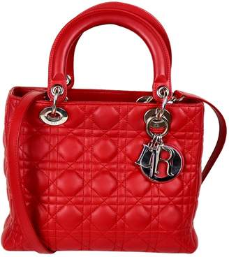 4eef018be808 Christian Dior Lady Red Leather Handbag