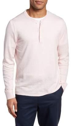 Nordstrom Long Sleeve Cotton & Linen Blend Henley