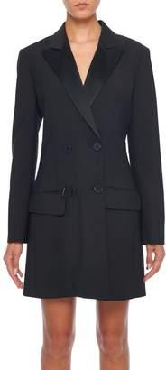 Tibi Tropical Wool Tuxedo Dress