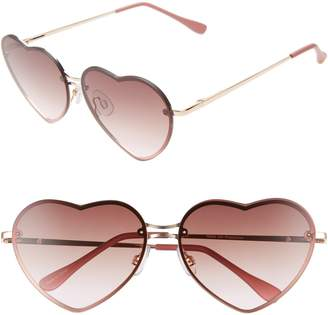 BP 55mm Flat Front Heart Sunglasses