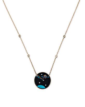 Jacquie Aiche Galaxy Cancer Zodiac Opal Pendant Necklace with Diamonds