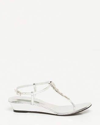 Le Château Metallic Leather-Like Wedge Sandal