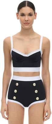 Balmain TWO PIECE LYCRA SWIMSUIT