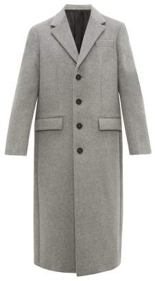 Joseph Single Breasted Wool & Cashmere Blend Overcoat - Mens - Grey
