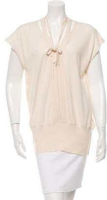 Doo.Ri Cashmere Gathered-Accented Top