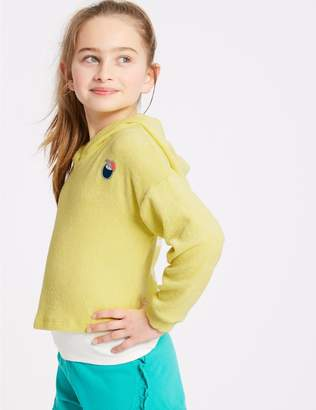 Marks and Spencer Cotton Rich Hooded Sweatshirt (3-16 Years)
