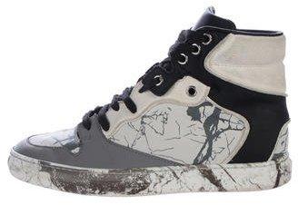 Marble High-Top Sneakers