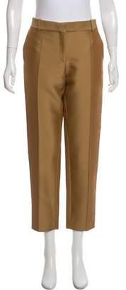 Celine Satin Straight-Leg Pants