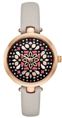 Women's Kate Spade New York Holland Mosaic Leather Strap Watch, 34Mm $195 thestylecure.com