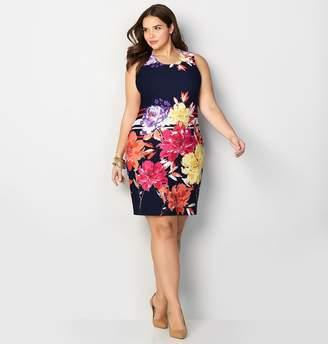 Avenue Large Placed Floral Sheath Dress