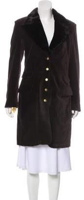 Sonia Rykiel Knee-Length Velvet Coat