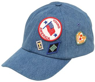 Patches Cotton Denim Hat Gigi Hadid $70 thestylecure.com